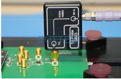 S603测试系统直接测量IC引脚引出的SMA测试图