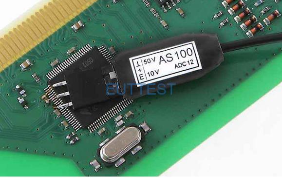 将A200-1连接到被测IC或元件的引脚上,模拟信号将转为光信号