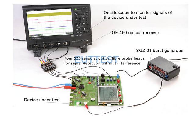 OE 450配合E1开发系统和外部示波器的使用方法