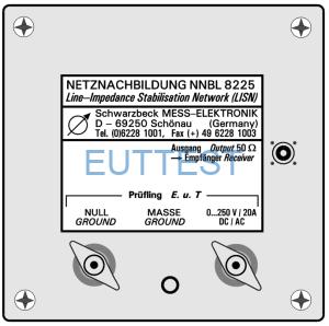 NNBL 8225 军标LISN 20A 符合MIL-STD-461&462