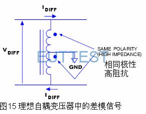 理想自耦变压器中的差模信号