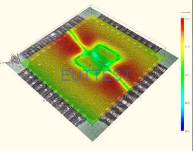 ICS 105配合近场探头进行表面扫描效果图